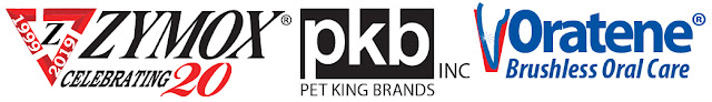 Zymox, Pet King Brands, and Oratene logos