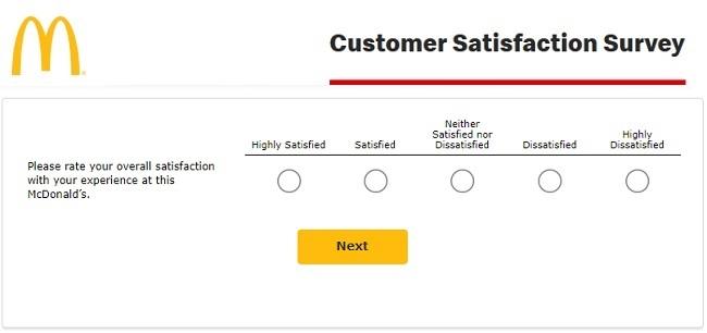 mcdonald's voice customer survey