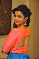 Nithya Shetty in Orange Choli at Kalamandir Foundation 7th anniversary Celebrations ~  Actress Galleries 068.JPG