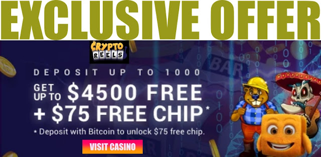 Deposit as little as $30 for a big 450% welcome bonus | CryptoReels casino