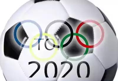 balón de fútbol anillos olímpicos tokio 2020