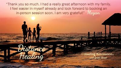Testimonial for Healing Resonance with Kristi Borst. Family on sunset pier.