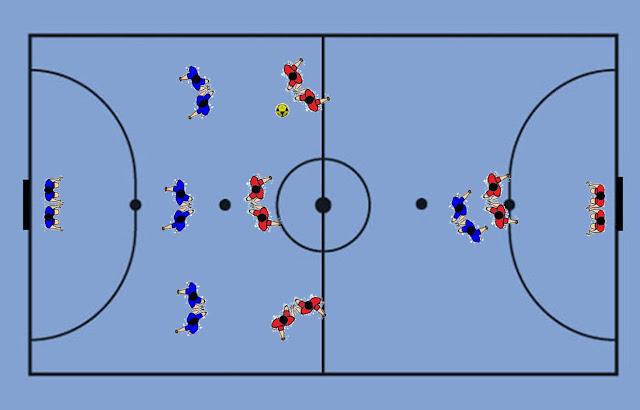 Exercícios para cooperação e integração no Futsal