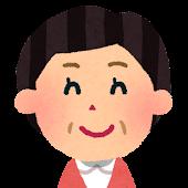 おばさんの顔アイコン 9