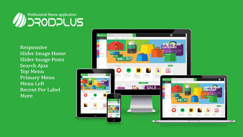 Droidplus Responsive Blogger Template