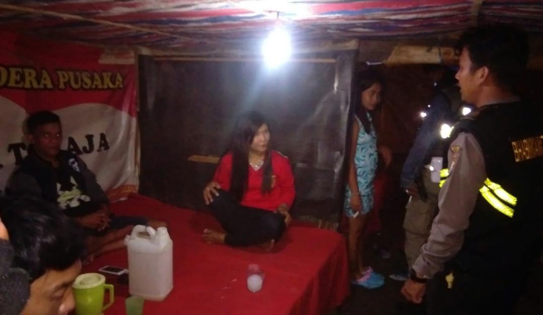 Cegah Praktek Prostitusi, Polisi Razia Warung Ballo' di Makale