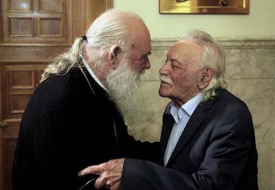 Μανώλης Γλέζος και ο Αρχιεπίσκοπος κ. Ιερώνυμος