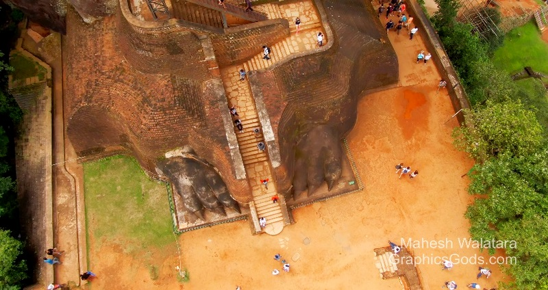 Sri Ianka Sigiriya Aerial View
