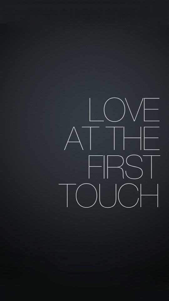 Love At The First Tough   Galaxy Note HD Wallpaper