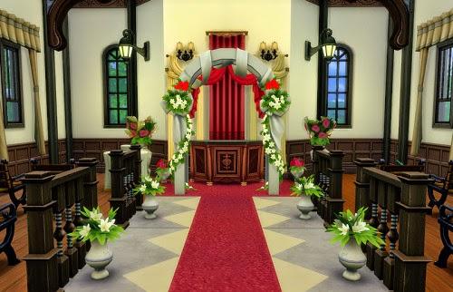 My Sims 4 Blog: Wedding Venue Lounge - No CC by Smsmcr