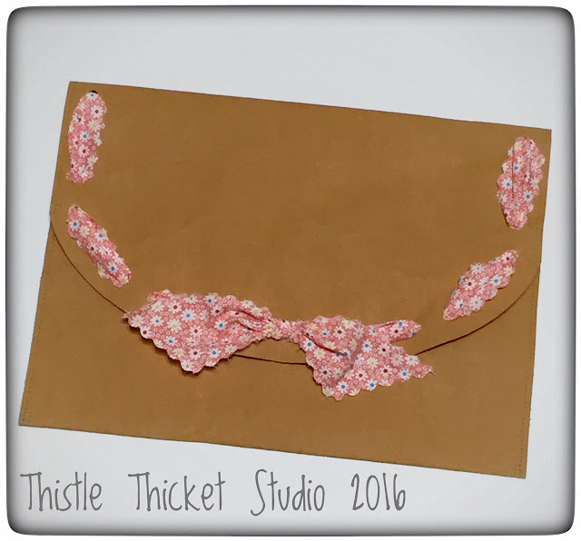 Thistle Thicket Studio, Kraft-Tex, portfolio, diy folder