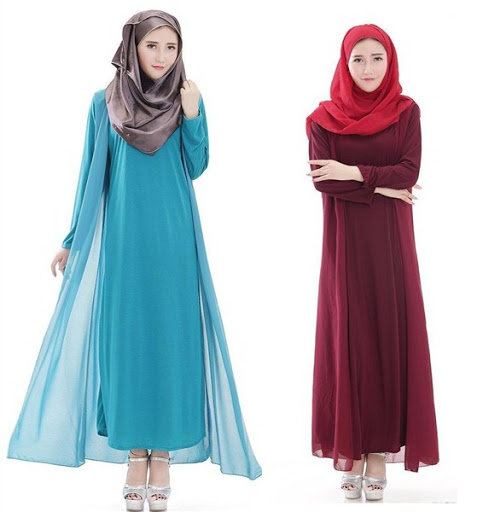 dress muslim simple terbaru 2016/2017