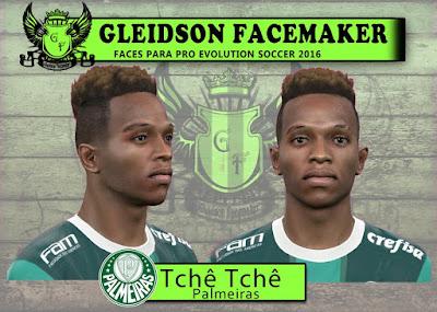 PES 2016 Tchê Tchê (Palmeiras) Face by Gleidson Facemaker