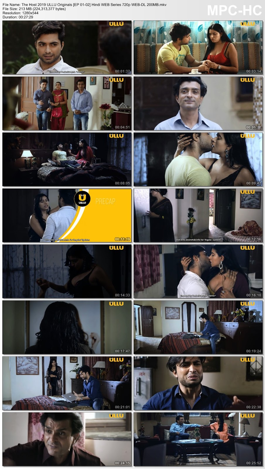 The Host 2019 ULLU Originals Hindi WEB Series 720p WEB-DL 200MB Desirehub