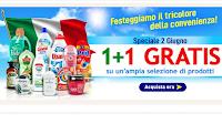 Logo Casa Henkel 1+1 Gratis '' Speciale 2 giugno'' ! Senza minimo di spesa !