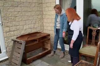 Katie visits Christine Sanderson