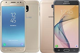 Harga dan Spesifikasi Samsung Galaxy J3 Pro (2017) vs J7 Prime