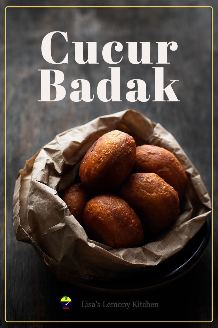 Sweet Potato dough with Spicy Coconut  Filling recipe. It also known as cucur badak in Malaysia. Malaysian favourite snack of sweet potato dumplings with spicy coconut fillings.