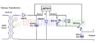 5v adjustable current power supply circuit diagram