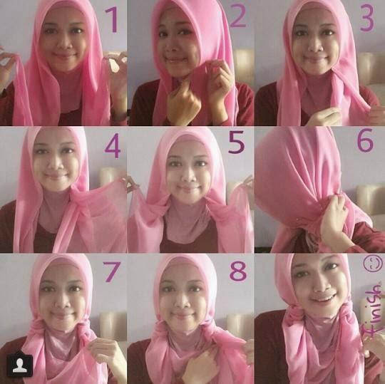 jilbab Segi empat kreasi 2
