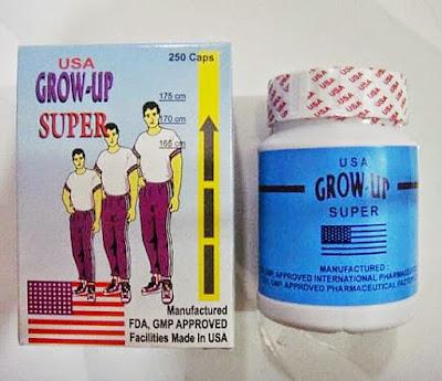 Obat  Suplemen Peninggi Badan Grow-Up USA Original