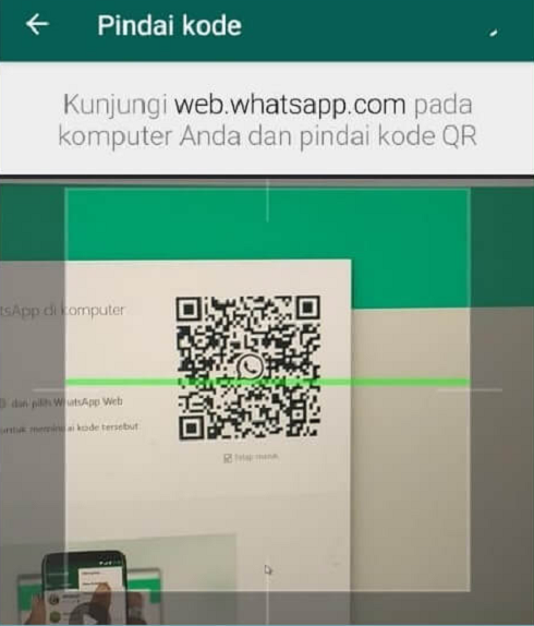 Proses Scan Barcode WhatsApp