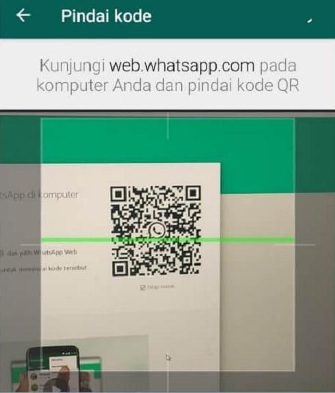 Proses Scan Barcode WhatsApp