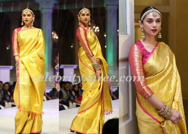 Aditi Rao Haidry Bridal Saree
