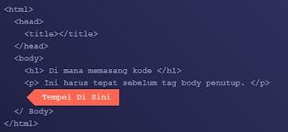 Layout> Edit HTML
