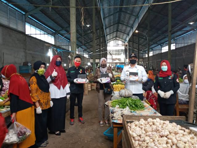 Pastikan Warga dan Pedagang Pakai Masker, jaga jarak dan Antisipasi Makanan dengan Bahan Berbahaya