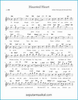 chord haunted heart lagu jazz standar