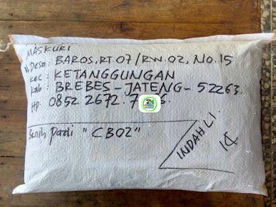 Benih Pesanan   MASKURI Brebes, Jateng.  (Sesudah Packing)