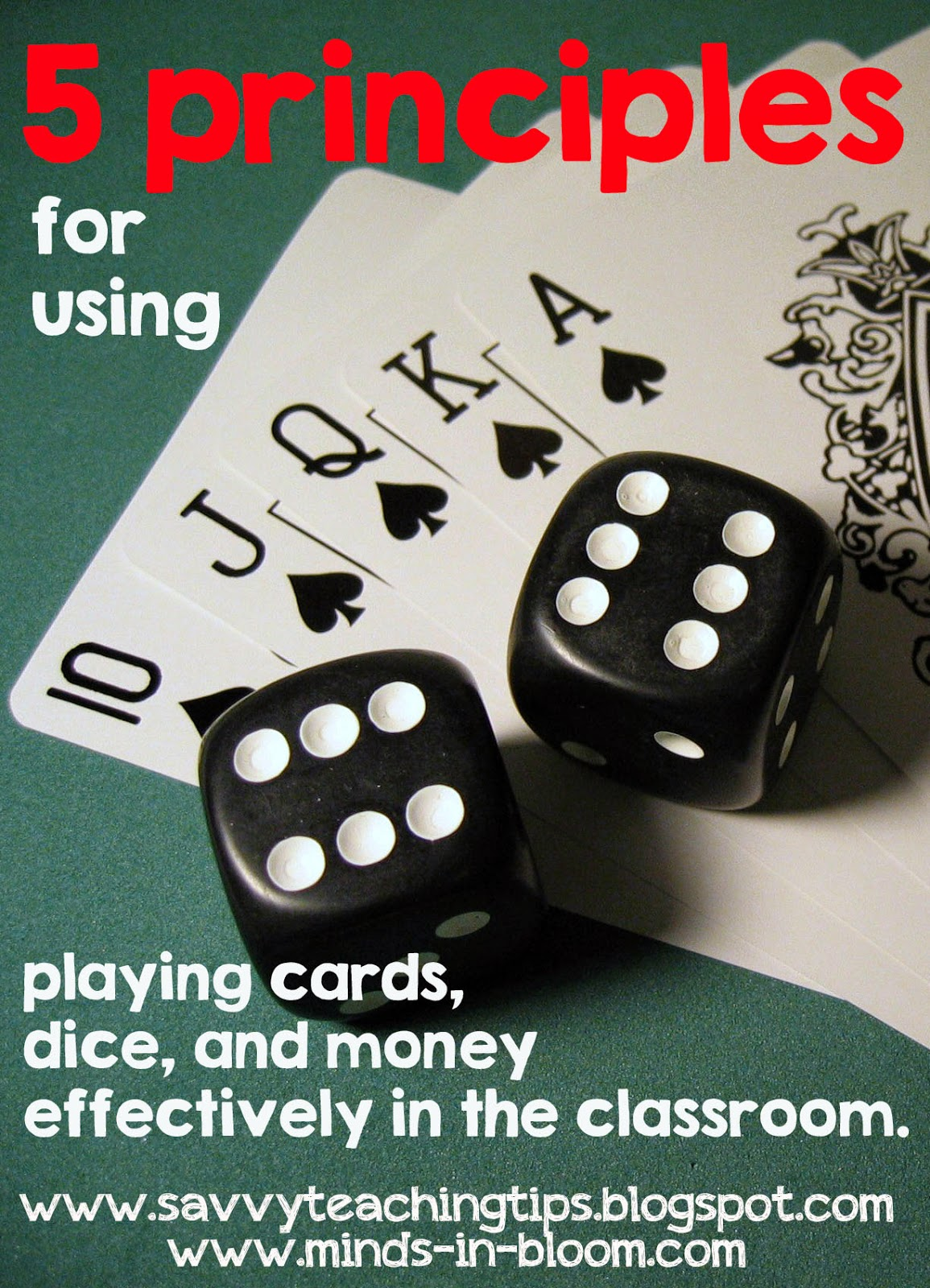 Math Games with money, dice, and playing cards – My students love playing math games with dice, money and playing cards.  Here's some classroom ideas and management tips for using these materials efficiently and effectively and still have fun!