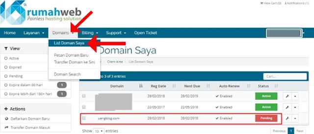 Cek Status Keaktifan Domain.com yang Anda Beli