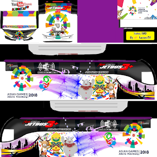 Download Livery Arjuan XHD Bus Asian Games Terbaru