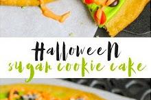 Halloween Sugar Cookie Cake Recipe