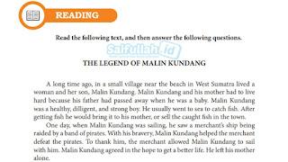Terjemahan Teks The Legend Of Malin Kundang Bahasa Inggris Kelas 10 Hal 172