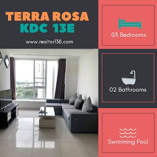 cho thuê căn hộ terra rosa 3 phòng ngủ block b3 kdc 13e