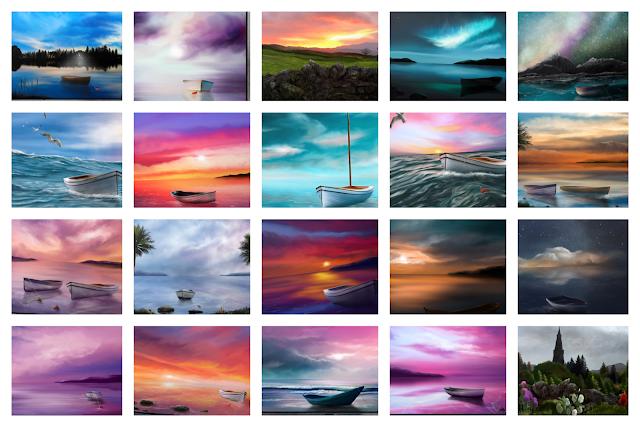landscape art, seascape art, printing at home, art prints, Mark Taylor,