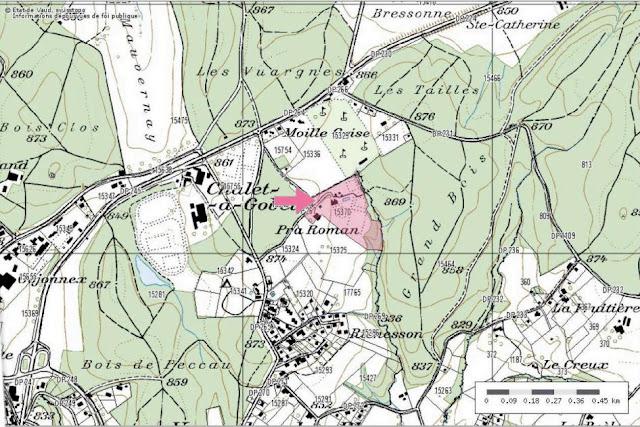Entre Vers-chez-les-Blanc et le Chalet à Gobet, aux confins de la Commune de Lausanne (Vaud)