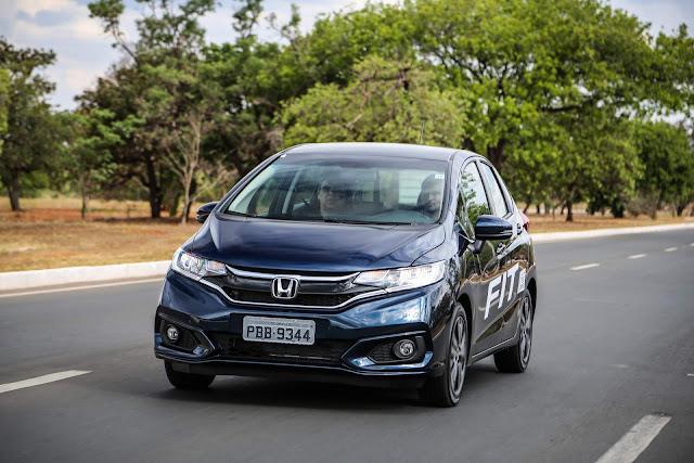 Honda Fit 2018 EXL Azul Boreal