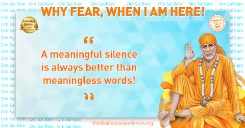 Meaningful Silence - Sai Baba Blessing Hand Painting Image