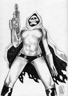 Projet de dessin pour Captain Death par Alexis Bacci