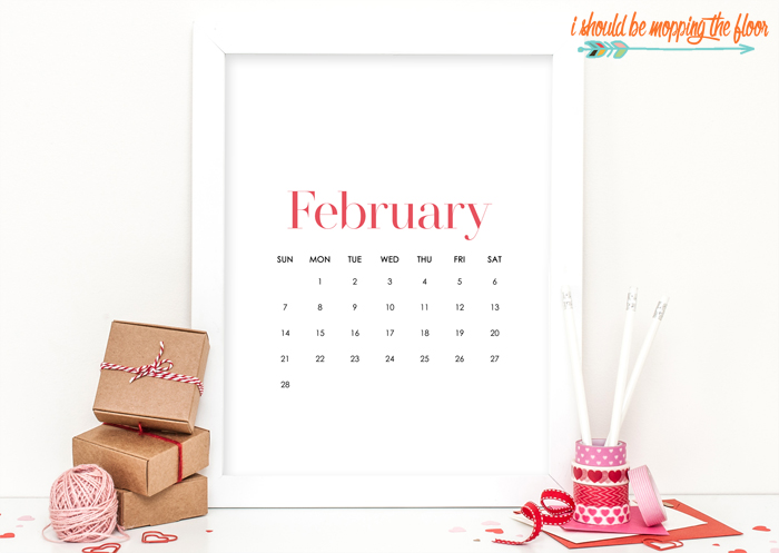 February At-A-Glance Calendar