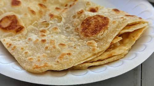 Freshly made paratha