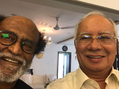 Najib swafoto bersama Rajnikanth