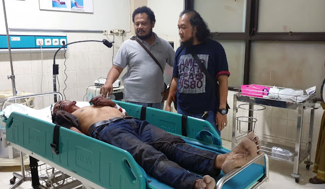 Kondisi sopir truck saat dirawat di RSUD dr. Haryoto