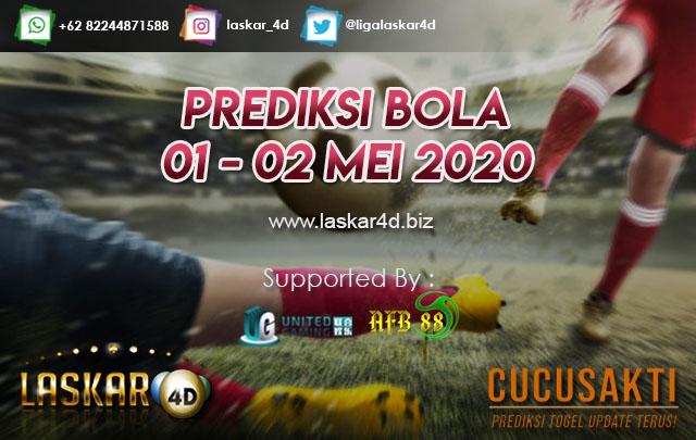 PREDIKSI BOLA JITU TANGGAL 01 – 02 MEI 2020