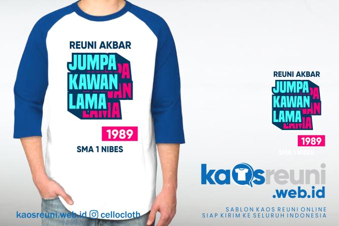 Sablon Desain Kaos Reuni Akbar Jumpa Kawan Lama 1989 - Kaos Reuni
