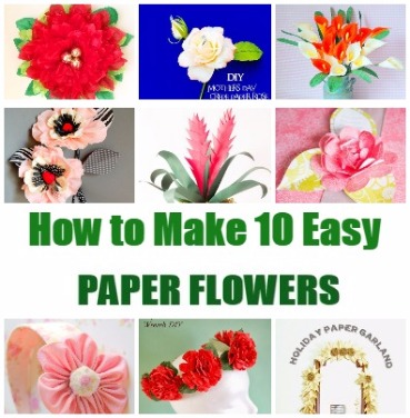 how-to-make 10 easy paper-flowers